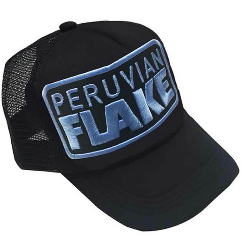 Peruvian Flake Clothing Peruvian Flake Trucker Hat - Blue on Black