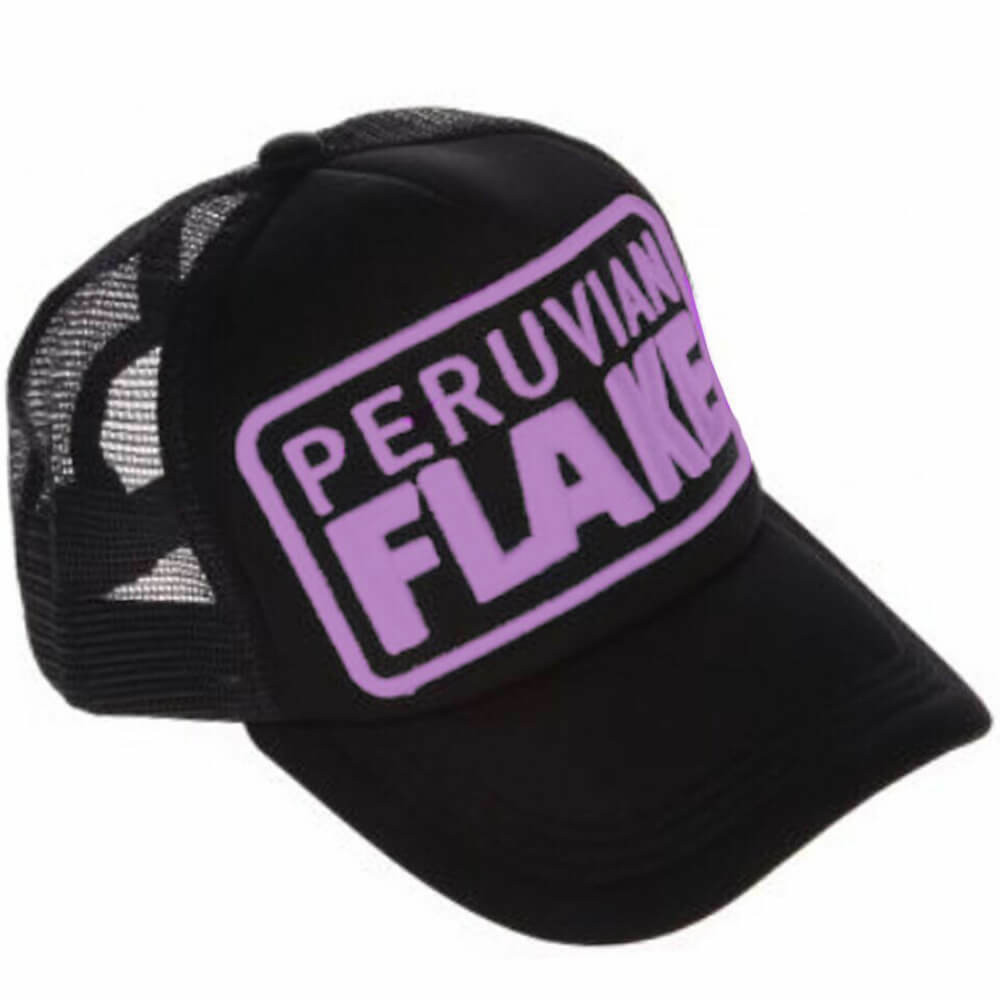 Peruvian Flake Clothing Peruvian Flake Trucker Hat - Purple on Black
