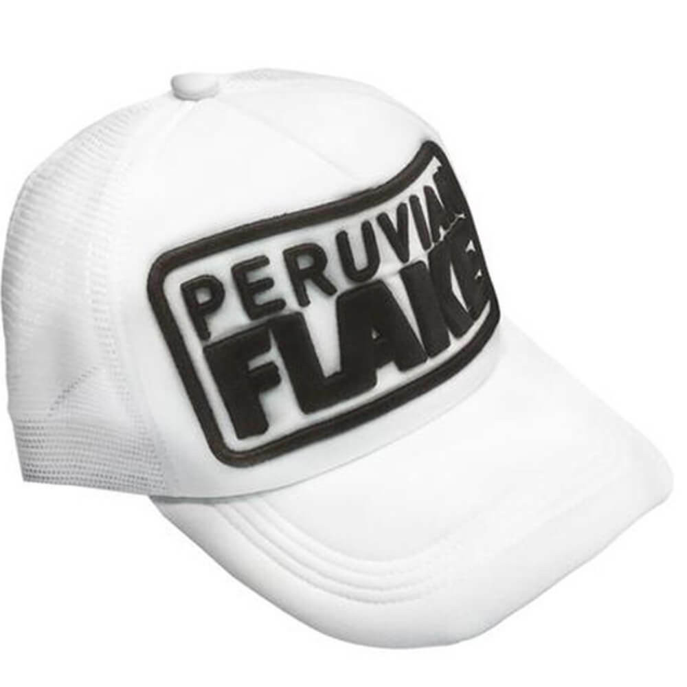 Peruvian Flake Clothing Peruvian Flake Trucker Hat - Black on White