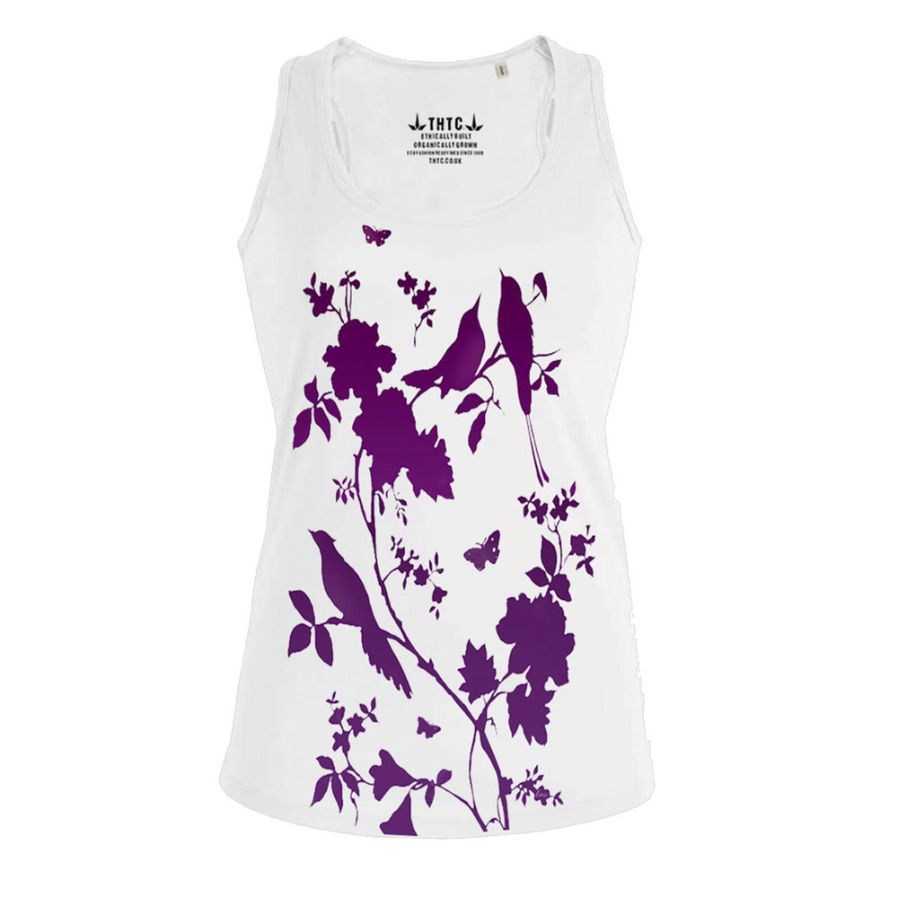 THTC Clothing Co BIRDIES Organic Cotton Vest By THTC Clothing