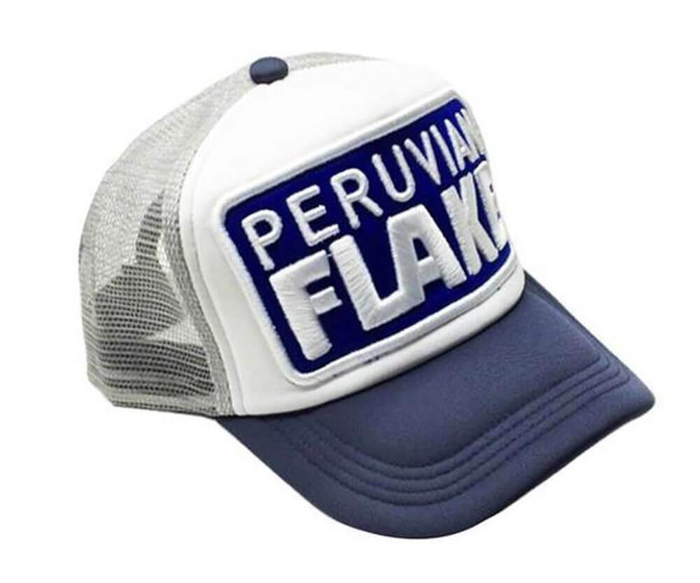 Peruvian Flake Clothing Peruvian Flake Trucker Hat - Blue, Grey and White Limited Edition
