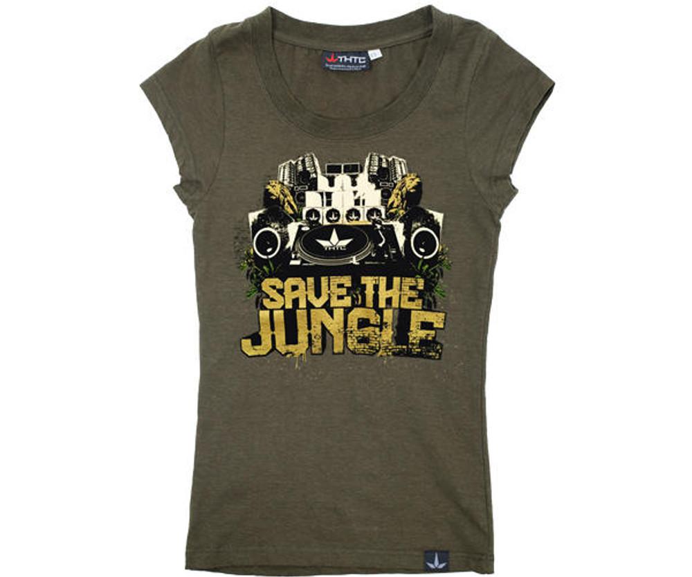 THTC Clothing Co SAVE THE JUNGLE Hemp T-Shirt By THTC Clothing Womens