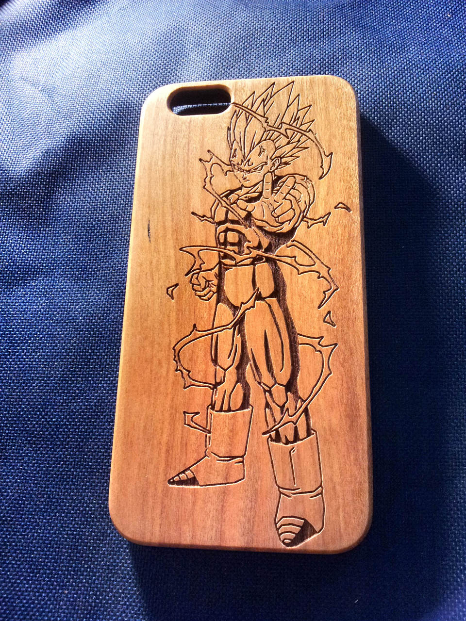best service 4b4b7 37dff Dragon Ball Z Wood Phone Case - Majin Vegeta Inspired - Laser Engraved  Personalised Gift - iPhone 5 5s 6 plus Samsung s5 s6 - 56