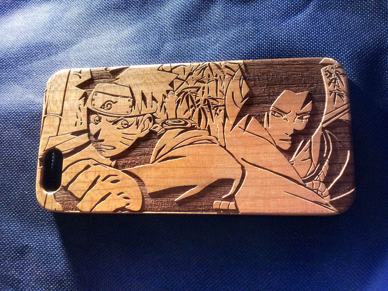 wholesale dealer 670a4 e38c0 Naruto wood Phone Case - Naruto & Sasuke Inspired - Laser Engraved  Personalised Gift - iPhone 5 5s 6 plus - 43