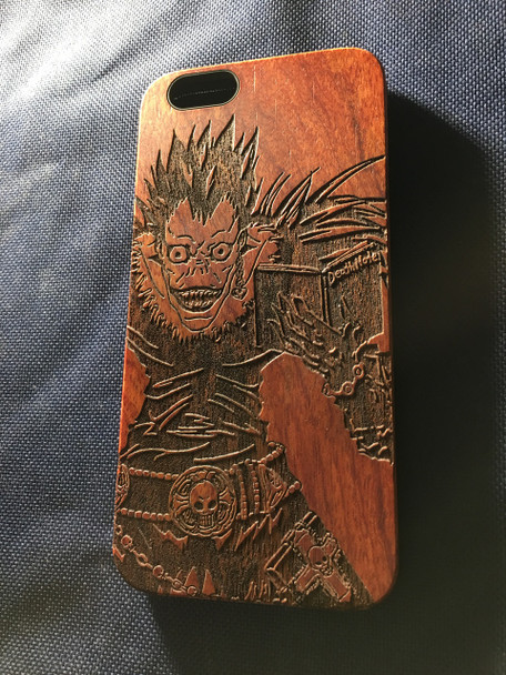 size 40 ae4c0 a4915 Death Note Wood Phone Case - Death Note Inspired - Laser Engraved Gift -  iPhone 5 5s 6 6s 7 plus Samsung s5 s6 - 98