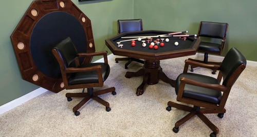 "54"" Game Table Set w/ 4 Rocker Chairs"
