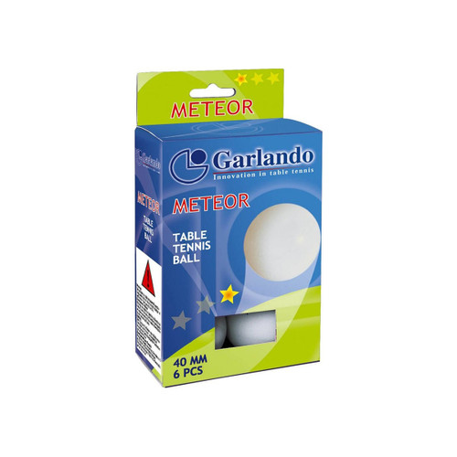 Garlando Meteor 1 Star Table Tennis, Pack of 6