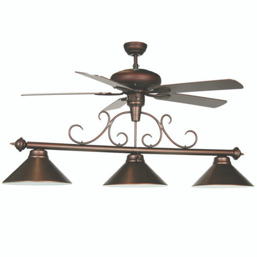 Oil Rubbed Bronze Billiard Light w/ Fan