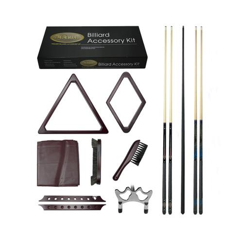 Mahogany Gold Billiard Accessory Kit