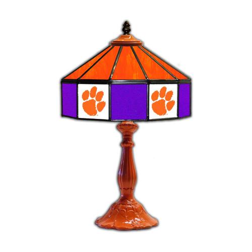 "Clemson University 21"" Glass Table Lamp"