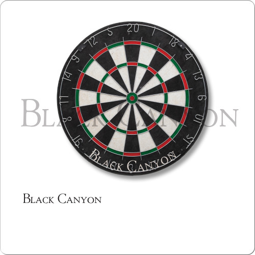 Black Canyon Bristle Dart Board With Diamond Wire