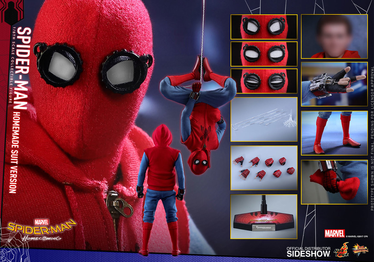 Spider Man Homecoming Home Made Suit Version Hot Toys Mms414 1 6