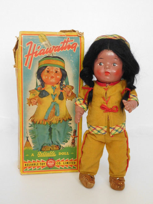 "1948 Reliable Doll 13"" HIAWATHA INDIAN A/O COMPOSITION NO.18138"
