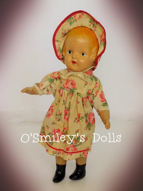 c1920 Composition & Cloth Doll