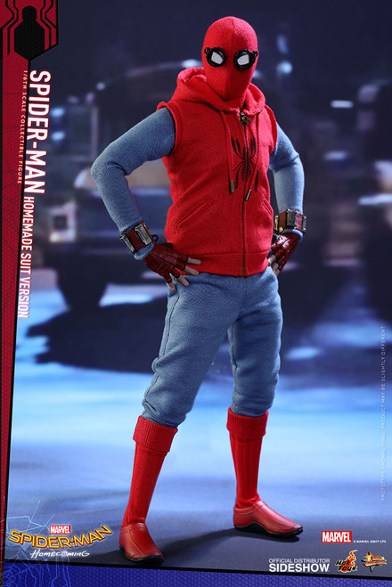 SPIDER-MAN HOMECOMING (HOME-MADE SUIT VERSION) Hot Toys MMS414 1:6 Scale Marvel Figure