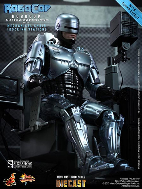ROBOCOP with MECHANICAL CHAIR (DOCKING STATION) Hot Toys MMS203 1:6 Scale Marvel Figure