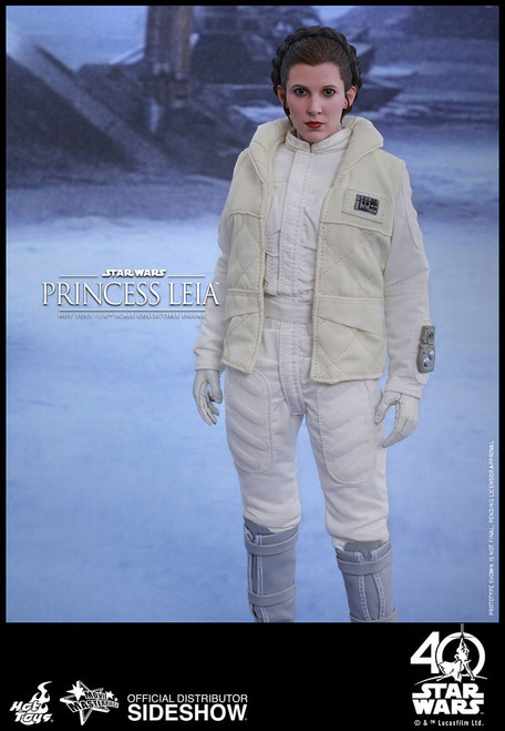 PRINCESS LEIA BATTLE OF HOTH Episode V ESB 1:6 Hot Toys Figure MMS423_SEALED SHIPPER