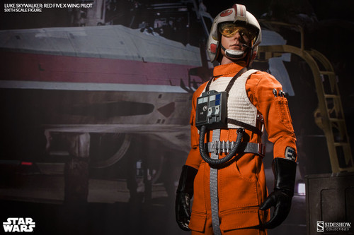 Star Wars LUKE SKYWALKER RED FIVE X-WING PILOT 1:6 Scale Figure by Sideshow_NRFB