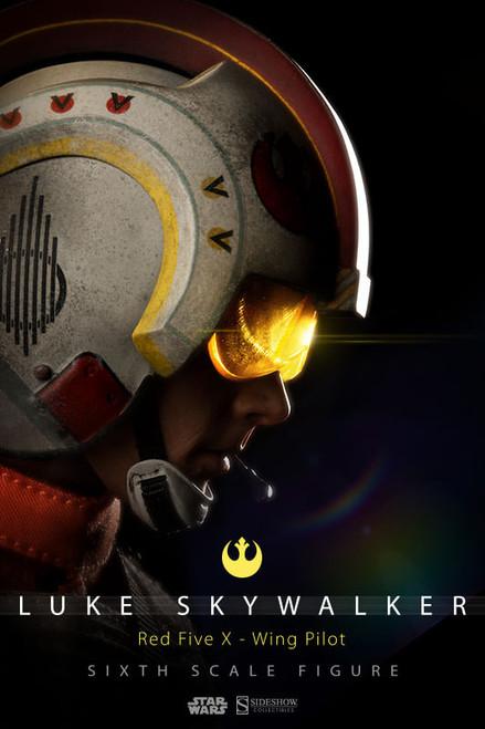 Star Wars LUKE SKYWALKER RED FIVE X-WING PILOT 1:6 Scale Figure by Sideshow
