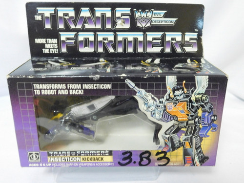 "Transformers ""Kickback"" Vintage 1984 Original (Not KO or Reissue) MISB 100%"
