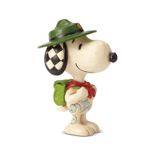 "Snoopy Boy Scout Mini Peanuts by Jim Shore 3.5"" Resin Figurine"