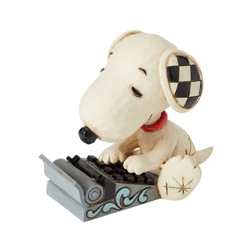 Snoopy Typing Mini Peanuts by Jim Shore