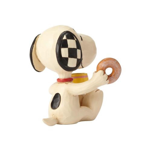 "Snoopy Donut & Coffee Mini Peanuts by Jim Shore 3.5"" Resin Figurine"