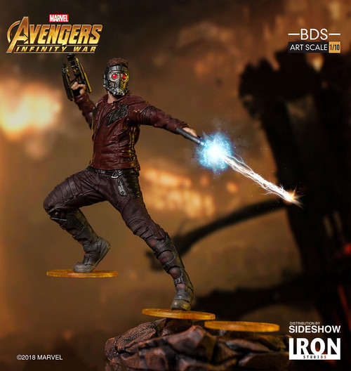 Star-Lord Statue by Iron Studios Avengers: Infinity War - Art Scale 1:10 Battle Diorama Series