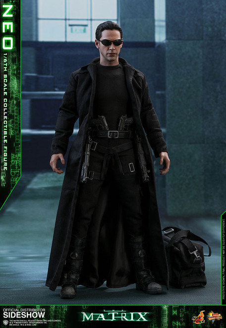 THE MATRIX: NEO Hot Toys Keanu Reeves 1:6 Scale Figure_US DEALER_NRFB