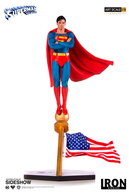 1978 SUPERMAN: THE MOVIE STATUE (Deluxe) C Reeves by Iron Studios  Art Scale 1:10