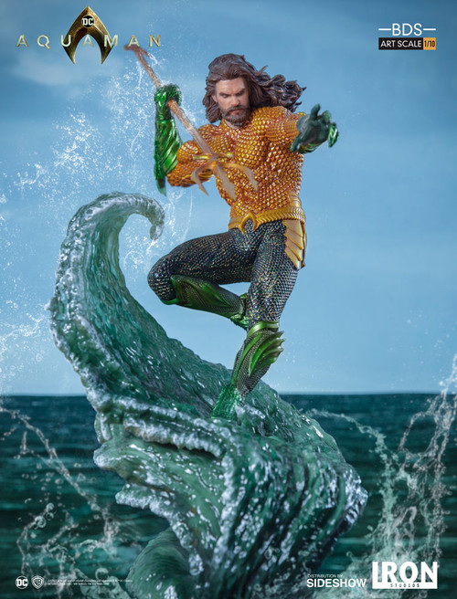 AQUAMAN DC STATUE (Jason Momoa ) JLA 1:10 Art Scale (BDS) by IRON STUDIOS
