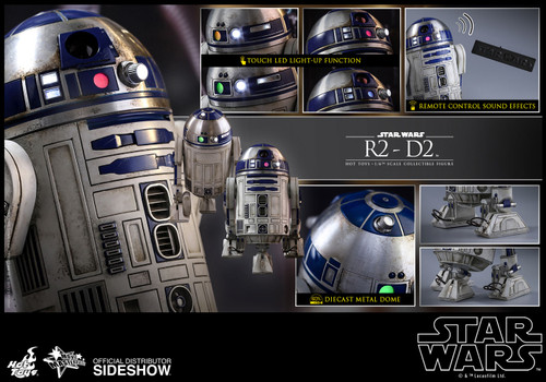Star Wars: Force Awakens R2-D2 (Astromech Droid) Hot Toys MMS408 1:6 Scale Figure (902800)