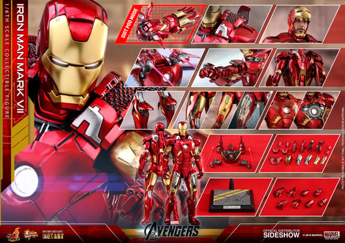 Avengers IRON MAN MARK VII 1:6 Scale Figure by HOT TOYS