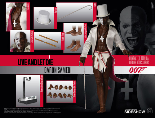 BARON SAMEDI Sixth Scale Figure by BIG Chief Studios James Bond Live and Let Die_BCJB0013