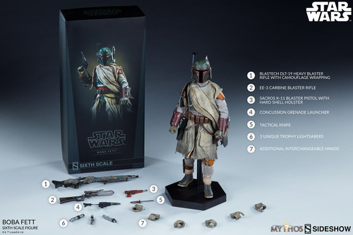 Star Wars BOBA FETT MYTHOS Sixth Scale 1:6 Figure by Sideshow Collectibles