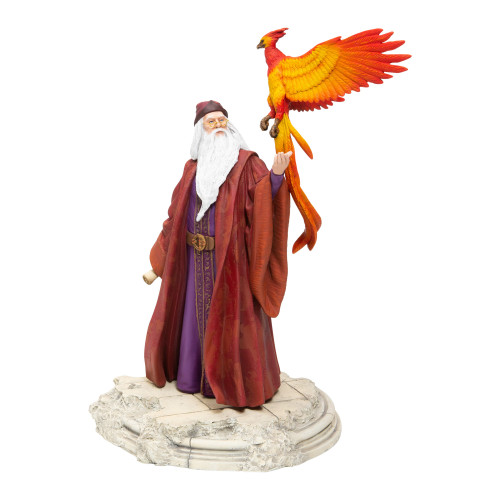 "Dumbledore w/ Fawkes 10"" Figurine by Wizarding World of Harry Potter (WB)"