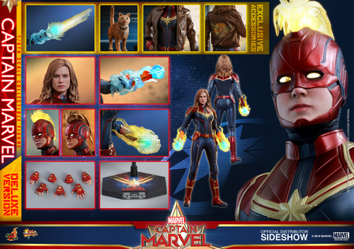 CAPTAIN MARVEL Deluxe Version Sixth Scale Figure by Hot Toys