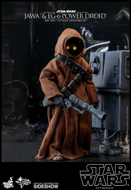 Star Wars Jawa & EG-6 Power Droid Sixth Scale Figure Set by Hot Toys  MMS554