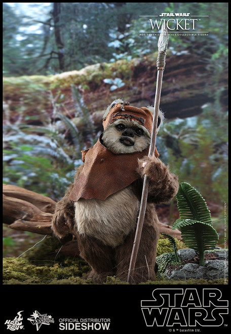 Star Wars WICKET Sixth Scale Figure by Hot Toys Star Wars Episode VI: Return of the Jedi MMS550
