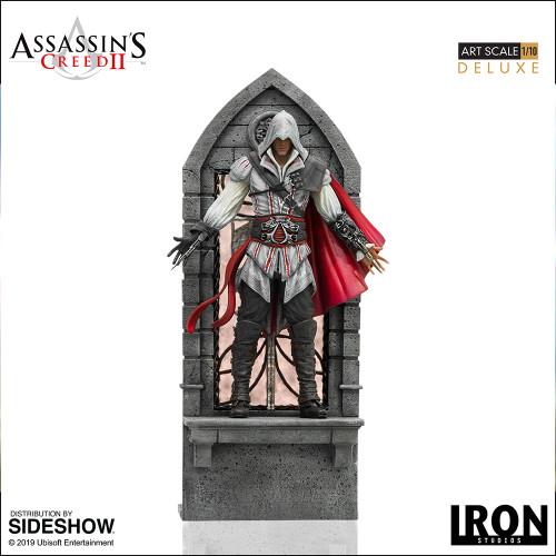 Ubisoft EZIO AUDITORE (DELUXE) Statue by Iron Studios 1:10 Art Scale ASSASSIN'S CREED II