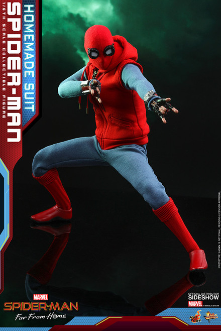 SPIDER-MAN FAR FROM HOME (HOME-MADE SUIT) Hot Toys MMS552 Sixth Scale Marvel Figure