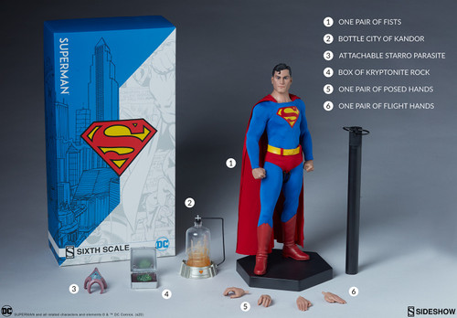 DC Comic SUPERMAN (KAL-EL)Sixth Scale Figure by Sideshow Collectibles
