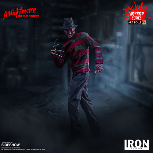 A Nightmare on Elm Street FREDDY KRUEGER 1:10 Art Scale Statue by Iron Studios