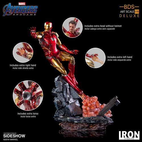 Avengers: Endgame IRON MAN Mark LXXXV (Deluxe) 1:10 Scale BDS Art Statue by Iron Studios
