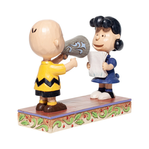 "Peanuts ""PLACES EVERYONE"" Featuring Charlie Brown and Lucy by Jim Shore"