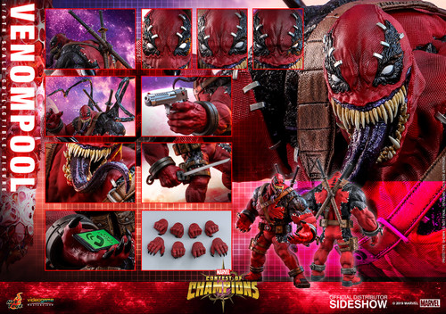 Marvel Contest of Champions VENOMPOOL Sixth Scale Figure by HOT TOYS VGM