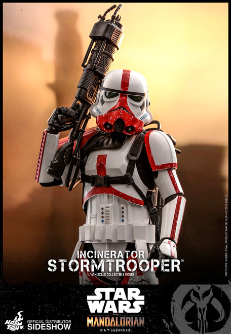 Disney's Mandalorian INCINERATOR STORMTROOPER Sixth Scale Figure by HOT TOYS TMS012