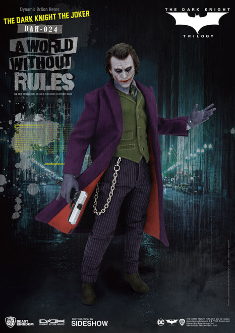 THE JOKER: BATMAN THE DARK KNIGHT Action Figure by Beast Kingdom 1:9 Scale
