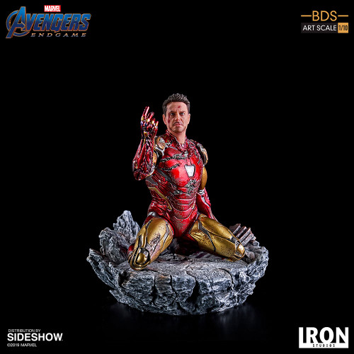 I AM IRON MAN Avengers: Endgame 1:10 Art Scale Statue by Iron Studios Battle Diorama Series