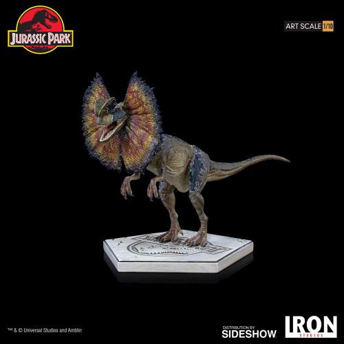 Jurassic Park Dilophosaurus 1:10 Art Scale Statue by Iron Studios